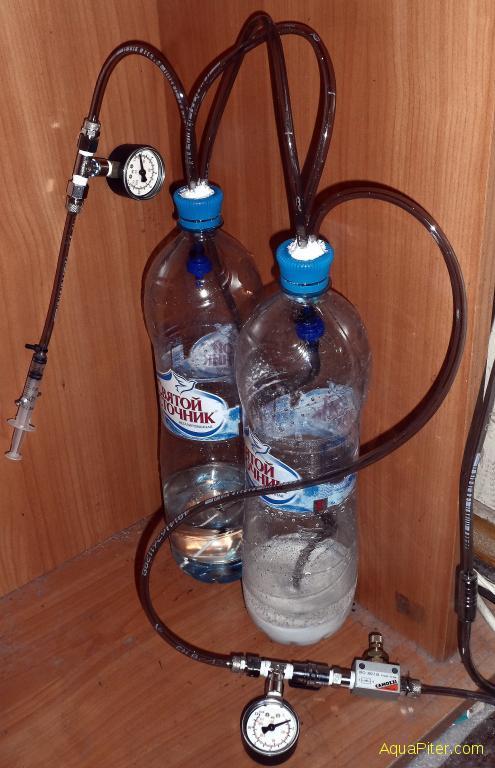 Генератор со2 для аквариума своими руками из одной бутылки 24